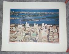 1960's Northwest Airlines Print Skyline & Ocean Miami & Miami Beach Florida
