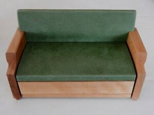 """VTG STROMBECKER  8"""" -10"""" Doll House Furniture Fold Out Couch Sofa"""
