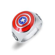 The Avengers Captain America Ring Shield Model Alloy  Bow #7 Ring