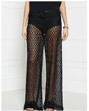 Designer Pinko Tenore Sheer Party/Holiday Trousers - Black,10-12/S-M, RRP£190.00