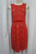 INC International Concepts Dress Sz 4 Holiday Red Lace Sleeveless Cocktail dress