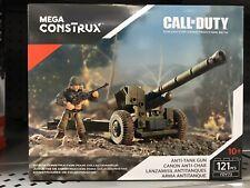 RARE Mega Construx Bloks Call Of Duty Anti-Tank Gun Collector Set FDY73 WWII