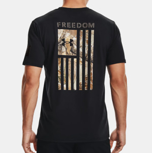 Under Armour Men's UA HeatGear Freedom Flag Camo T-Shirt. Black. 1370816