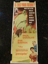 "THE GAMMA PEOPLE Original 1956 Movie Poster, Insert 14"" x 36"", C8 Very Fine"