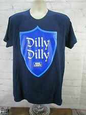 NWOT Bud Light DILLY DILLY Navy Blue adult shirt size XL- beer commercial-(A1)