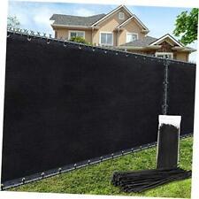 4'×25' Privacy Fence Screen Windscreen Heavy Duty Fence Shade Net 4'x25' Black
