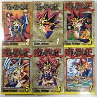 Shonen Jump Yu-Gi-Oh! - 8 Manga 1st Edition English Takahashi VIZ - Vol 1-3, 5-7