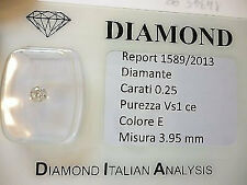 DIAMANTE 0.25 CARATI E  COLOR VS 1  OFFERTA 50 % - Lotto 0.50 0.30 0.20