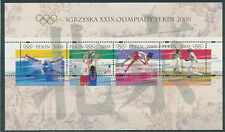 Poland block MNH Olympic games Beijing (sheet)