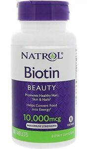Natrol Biotin 10000 mcg 100ct Tablets -Expiration Date 03-2022