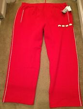New Men's $168 Rocawear Big & Tall Red Sweat Pants Lounge Track Sz 4X Nwot White