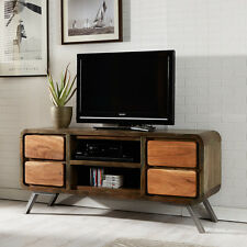 Large TV Stand Colarado Media Plasma LCD Unit Stand made from Iron & Wood AS03