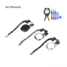 iPhone 5s Home Button With Key Flex Cable Assembly White Replacement Part Sensor