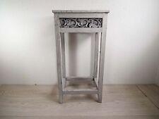Beistelltisch Blumentisch Telefontisch - Holz grau / weiß - auf alt gemacht  kl.