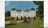 BF31781 horse hunting dog chateau de cheverny l et c   france front/back image