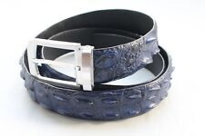 Unjointed Blue Genuine Alligator ,CROCODILE Belt Skin Leather Men's Accessories