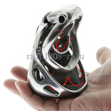 Fully Closed Scrotum Restraint Stainless Steel Male Chastity Belt Cage Device