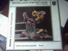 "Beethoven Moonlight Pathetique Richter-Haaser PHILIPS 10"" Minigroove ,GBR 6503"