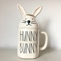 New Rae Dunn Baby White Hunny Bunny Mug With Head Topper LL - Easter 2020
