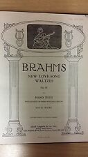 Brahms: New Love Song Waltzes: Opus 65: Piano Duet: Music Score (D2)