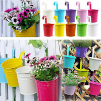 Flower Pot Hanging Balcony Garden Plant Metal Iron Planter Family Home Decors