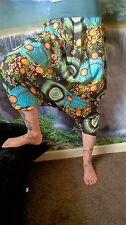 ABSTRACT DESIGN HAREM-HIPPY-PANTS-FESTIVAL BOHO ETHNIC CHIC BEACH FUNKY SD52