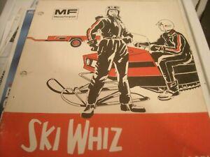 1971 Vintage SKI WHIZ Snowmobile Catalog Massey Ferguson Farm