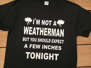 Mens Funny Fancy Dress T shirt Slogans t shirts Weatherman t shirt