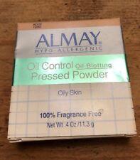 ALMAY HYPO-ALLERGENIC Oil Control Pressed POWDER Oily Skin FRAGRANCE FREE Beige