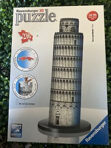 Ravensburger 3D Leaning Tower of Pisa Italy Tower Puzzle 216 Pieces Complete