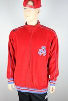 Mens Akademiks 90's Vintage Stadium Division Track Jacket Full Zip, Red, Size XL