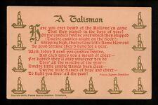 Halloween postcard DF-1 Color Variety A Talisman Poem Donaldson Philadelphia PA