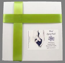 Wedding guest book alternative signing puzzle Heart Hands Wood Signing Puzzle