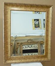 """Large Solid Wood """"22x26"""" Rectangle Beveled Framed Wall Mirror"""