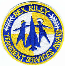 US Air Force Patch: Rex Riley Transient Services Award