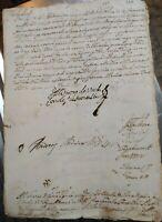 1690 PALERMO : LETTERA AUTOGRAFA VICERE' DI SICILIA DUCA DE UZEDA SOLDATI E ARMI