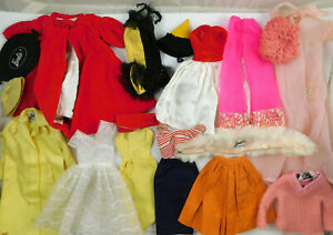 LOT OF VINTAGE 1960's MATTEL BARBIE CLOTHES AND ACCESSORIES