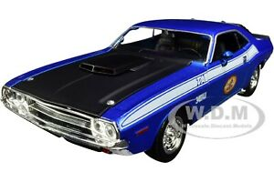 "1970 DODGE CHALLENGER BLUE ""THE BUSTED KNUCKLE GARAGE"" 1/24 FIRST GEAR 49-3173B7"