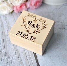 Personalised Wedding Ring Box Custom Name Wooden Ring Box Holder Bearer Pillow