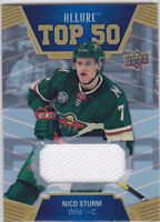 19/20 ALLURE..NICO STURM..JERSEY..TOP 50..# T50-43..WILD..FREE COMBINED SHIP