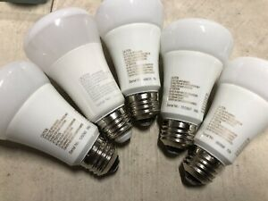 Lot Of 5 Philips Hue White and Color A19 LED Smart Bulb 800 Lumens 3rd Gen