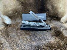 "Simbatec 5/8 Solingen Germany ""Granite Look"" Straight Razor Gorgeous Mint In Box"
