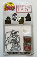 Vintage SunCatcher Star Wars-RTOJ, Jabba the Hutt, Stained Glass,1983, No.53623