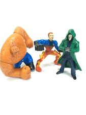 """Burger-King Fantastic Four 4"""" Action Figure Toy Lot(3) 2005 The Thing, Dr. Doom"""