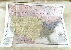 1916 Antique Railroad Map American United States Rail Transport System Network