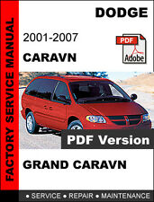 DODGE CARAVAN 2001 2002 2003 2004 2005 2006 2007 SERVICE REPAIR WORKSHOP MANUAL