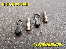 2x M8 1.25mm stainless steel bleed screw set Nissin Honda Triumph Ducati Brembo
