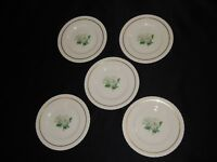 """5 Hanover China Silver Rose 6 1/4"""" Bread Butter Plates"""
