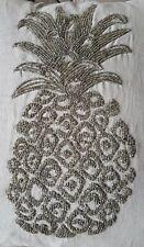 Laura Ashley Silver Pineapple Beaded Cushion