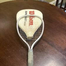 WILSON SUPERSHOT RACQUETBALL RACQUET WITH COVER LEATHER VINTAGE GRIP